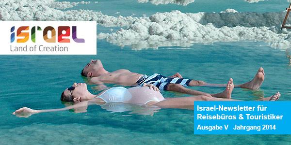 Ausgabe 5 Israel-Newsletter für Reisebüros und Touristiker