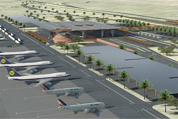 Der neue Flughafen Timna