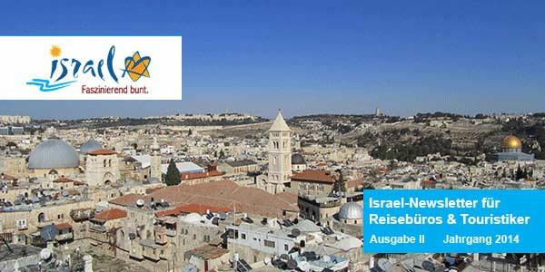 Ausgabe 1 Israel-Newsletter für Reisebüros und Touristiker