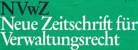 Neue Zeitschrift für Verwaltungsrecht