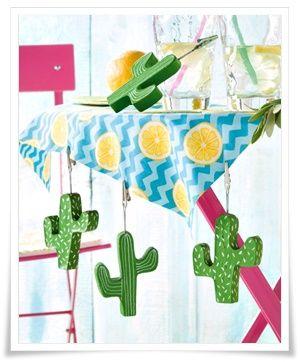 Tischdeckenbeschwerer Kaktus aus Beton