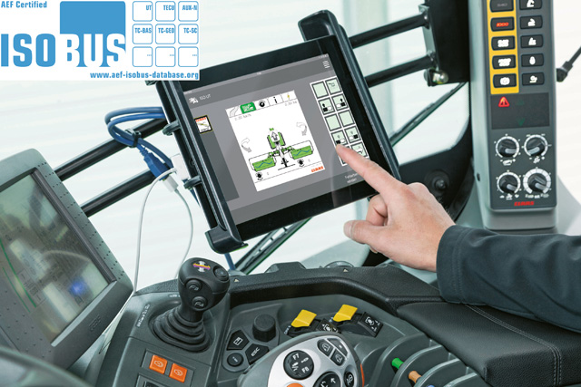 Aplica?ia CLAAS EASY on board � Certificarea AEF ISOBUS a aplica?iei CLAAS pentru tablet?