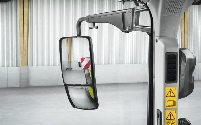 Oglinzi cu unghi larg și două câmpuri vizuale ajustabile separat