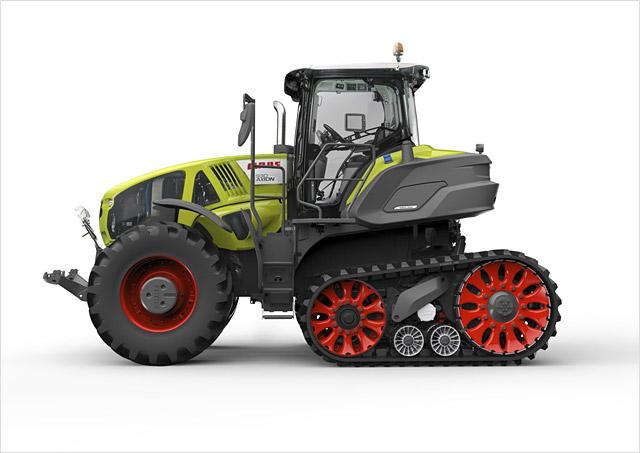 AXION 900 TERRA TRAC � primul tractor semi-?enilat cu suspensie pentru �ntregul utilaj