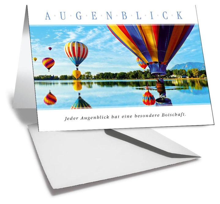 Grußkarte  AUGENBLICK