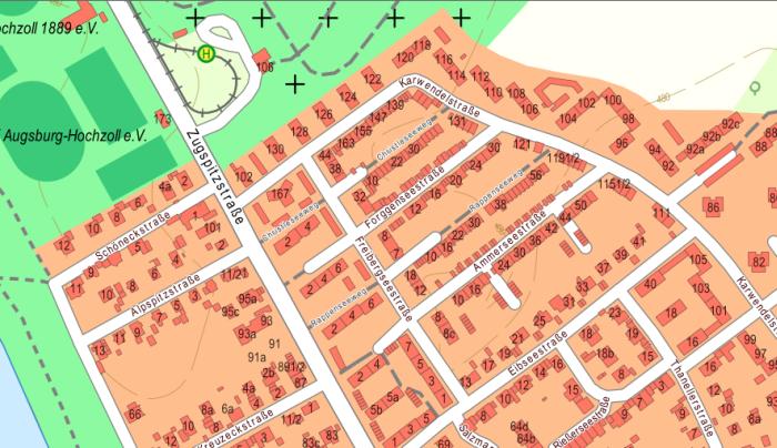 onmaps-Hausnummern: Augsburg