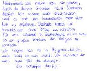 Schülerbrief an Mohammed H.