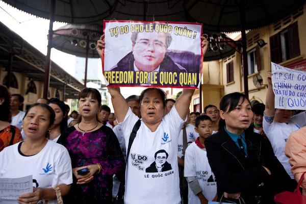 Demonstration für die Freiheit von Le Quoc Quan