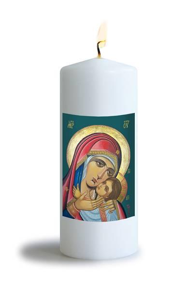Tischkerze Ikone Mutter der Barmherzigkeit