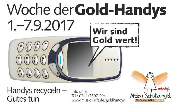 Goldhandy-Sammelwoche von missio im September