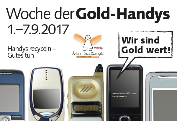 Goldhandy-Sammelaktion missio Aachen
