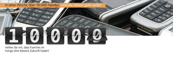10.000 Handys gesammelt und es geht weiter