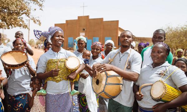Messe in der Nähe von Ougadougou, Burkina Faso