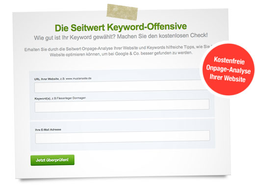 Newsletter - Seitwert Keyword-Analyse