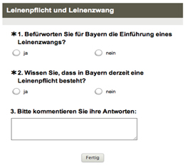 online Umfrage Play Sit Stay - Hundeschule München