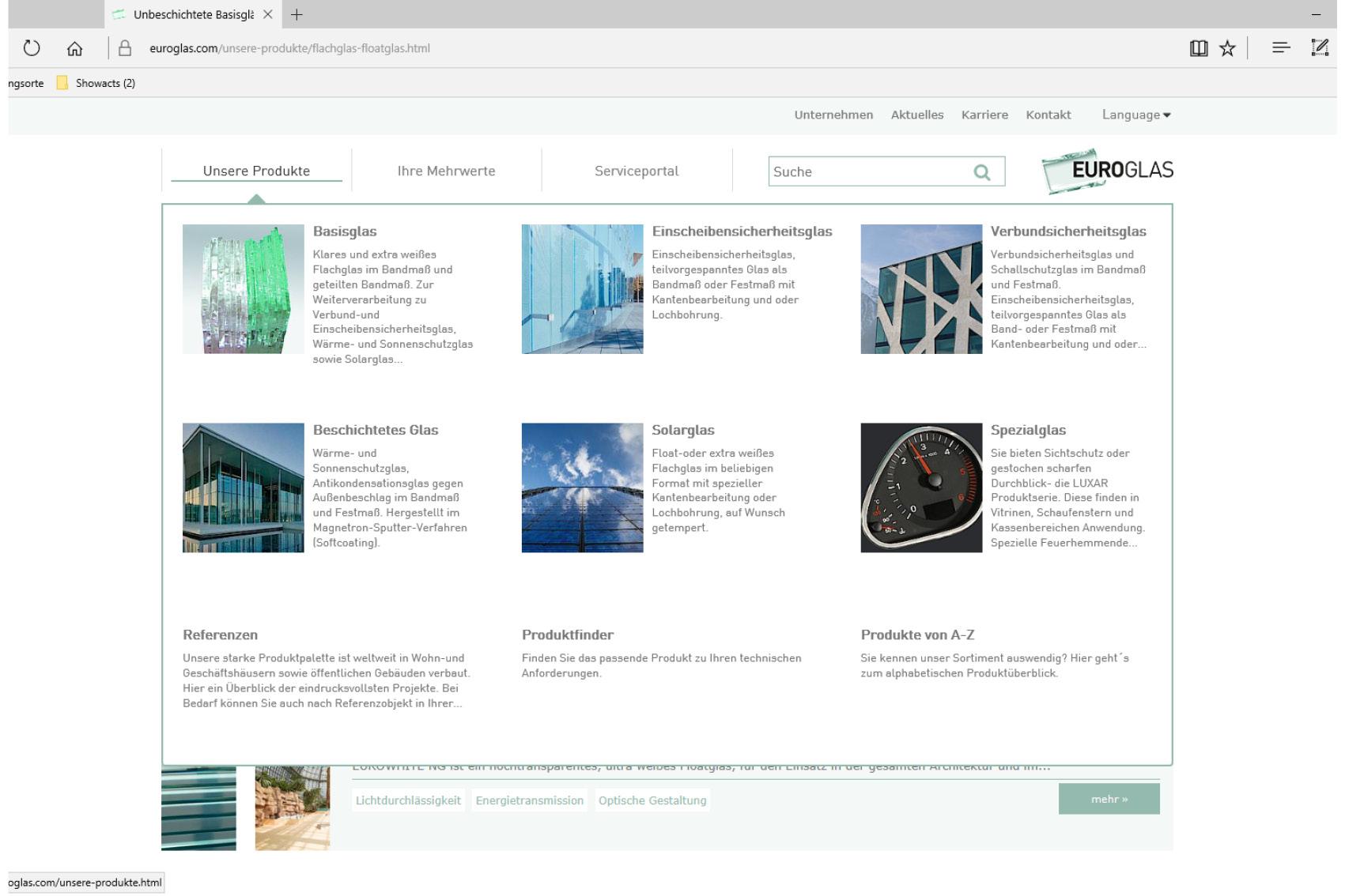Webseite neue strukturiert