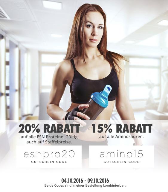 FITMART: 20% RABATT ALLE ESN PROTEINE & 15% RABATT ALLE AMINOS
