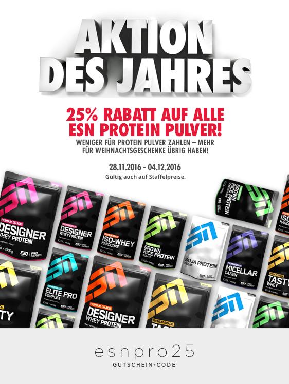 Fitmart: 25% auf alle ESN Proteine