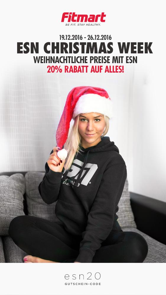 20% Weihnachtsrabatt 🎅 auf alle ESN PROTEINE bei Fitmart