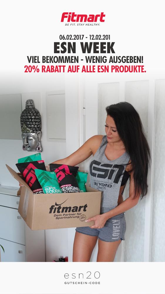 20% auf alle ESN Produkte bei Fitmart