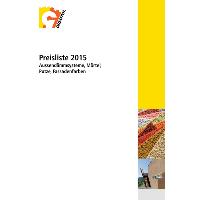 Die Preisliste 2015 steht auf der Website zum Download bereit.