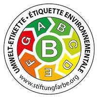 Die Umwelt-Etikette der Stiftung Farbe hilft Ihnen, die passende Farbe für die richtige Anwendung zu finden. Auch die Greutol AG setzt ein Zeichen für den Umweltschutz und deklariert ihre GreoColor Innenfarben.