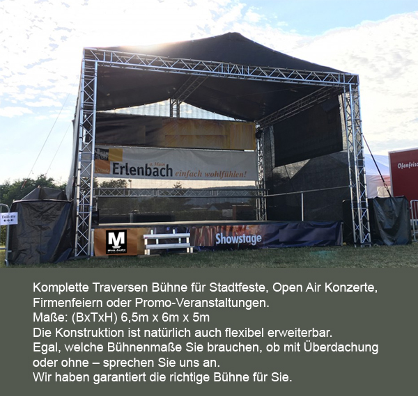 Bühne Traversen Bühnendach