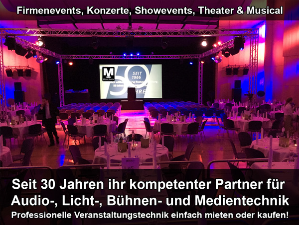 Professionelle Veranstaltungstechnik einfach mieten oder kaufen bei Mink Audio Professional, die Audiorprofis.de aus Elsenfeld
