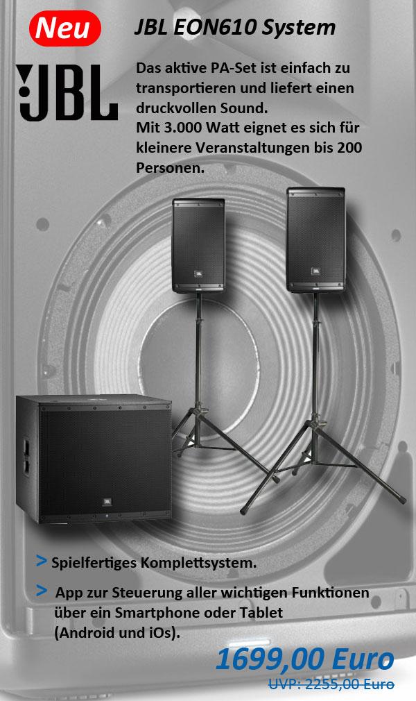 JBL PA-Set EON610 System EON 610
