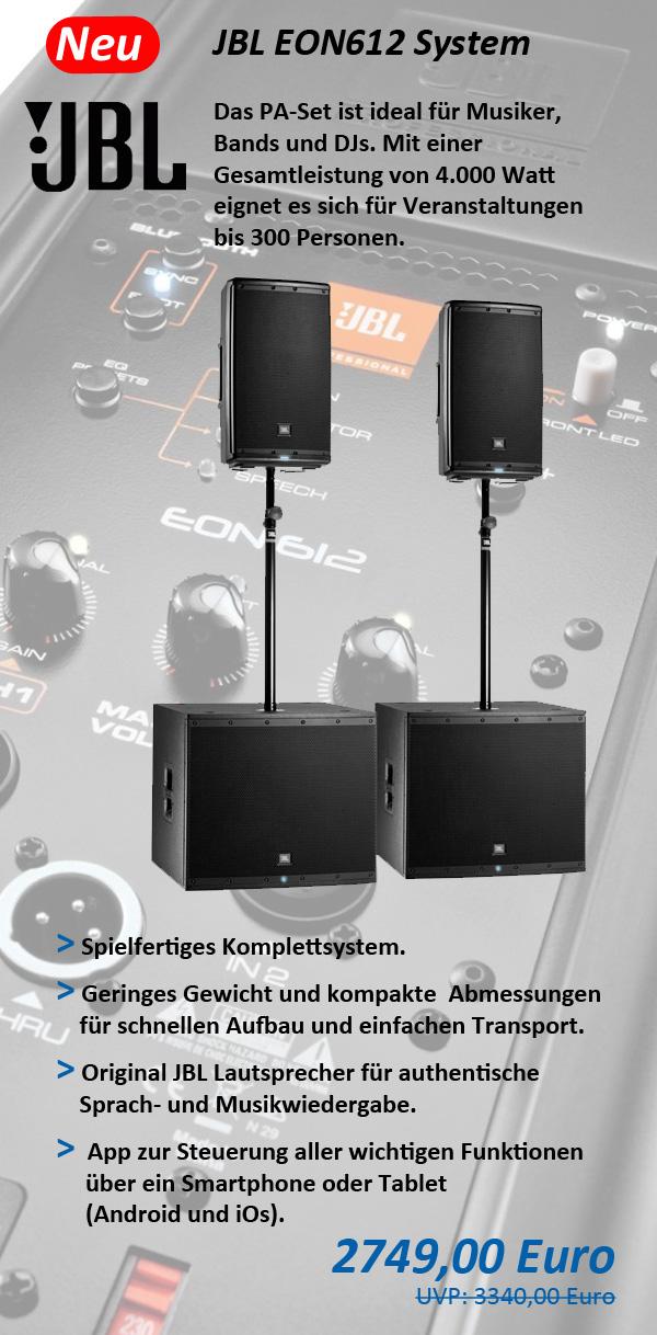JBL PA-Set EON612 System