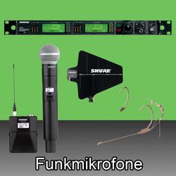 Funkmikrofone  bei den Audioprofis von Mink Audio Professional.