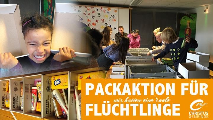 Packaktion Flüchtlinge
