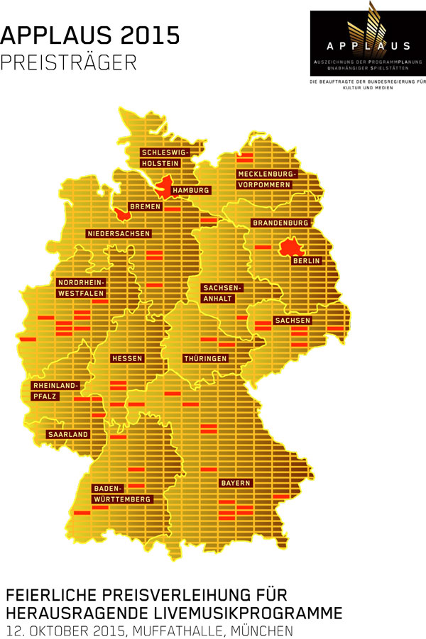APPLAUS 2015 - Karte Preisträger im Überblick