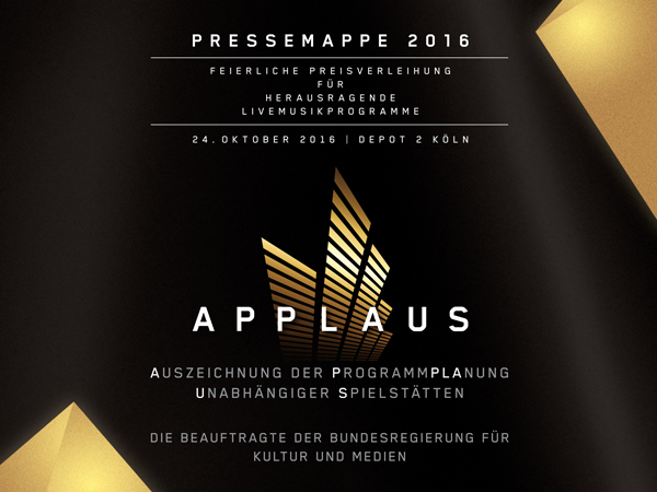 Pressemappe APPLAUS 2016