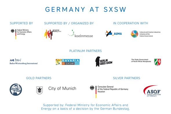 SXSW 2016 - Germany Hauptpartner