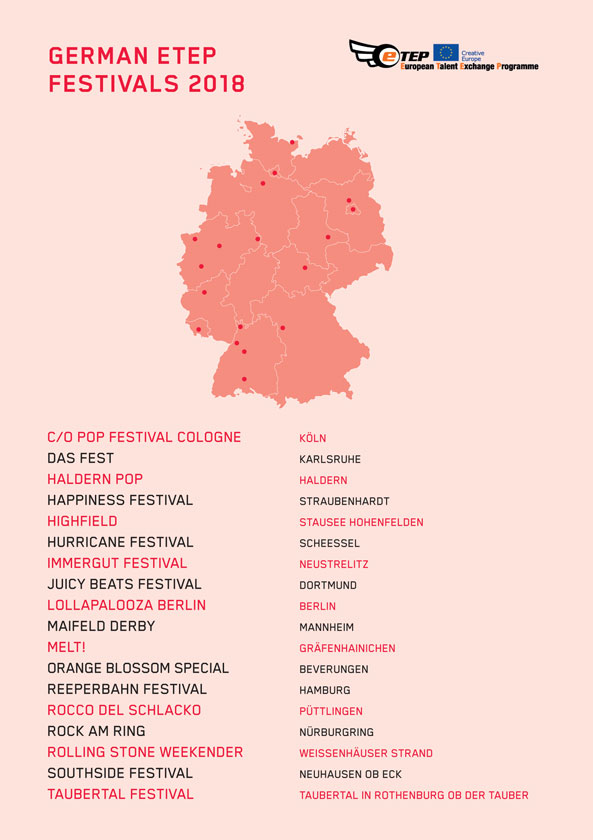 ETEP FESTIVALS GERMANY