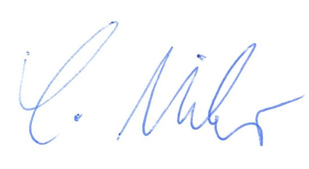 Unterschrift von Christian Mihr