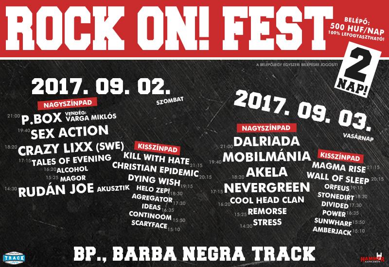 Jövő héten Rock On! Fest! Itt a teljes program!