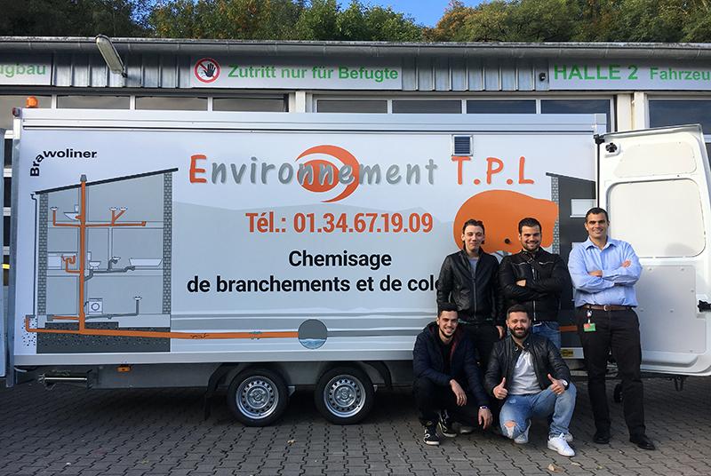 Environnement TPL setzt auf Sanierungsfahrzeuge von BRAWOLINER