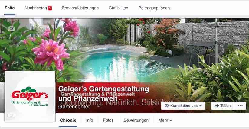 Geiger's auf facebook