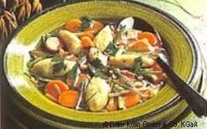 Gemüsesuppe mit Hafernockerln