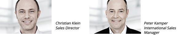 Christian Klein, Sales Director - Peter Kamper, International Sales Manager