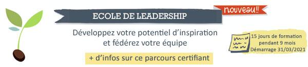 Ecole de leadership : nouveau - 15 jours de formation pendant 9 mois