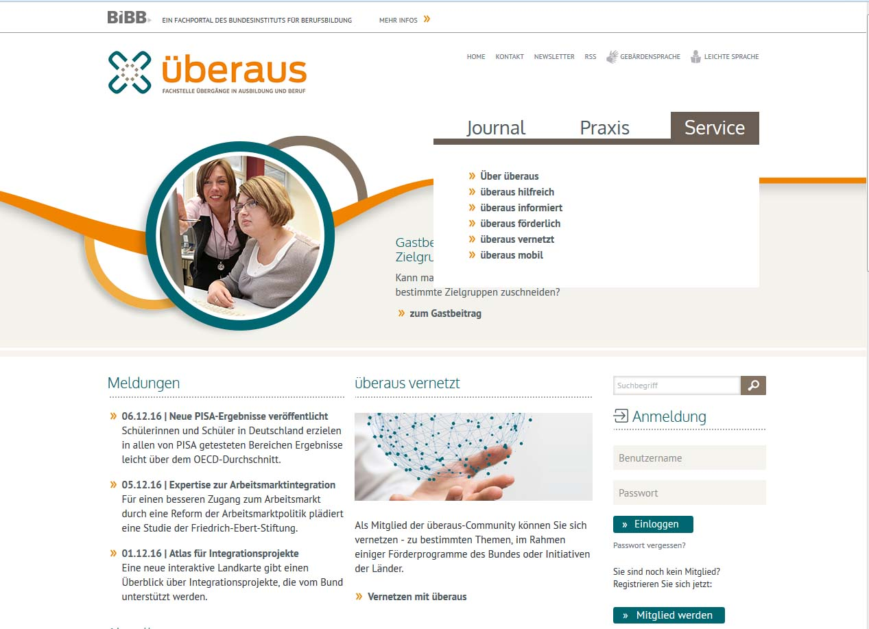 Screenshot Überaus.de