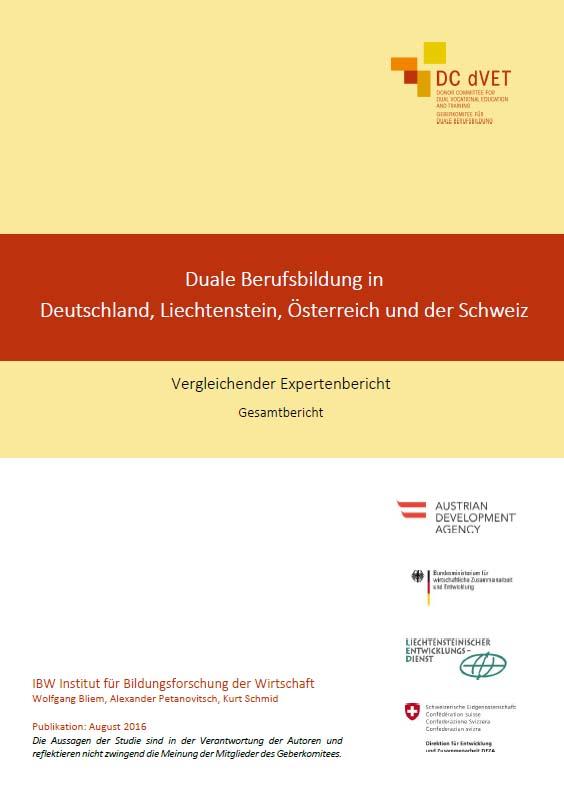 Cover Vergleichstudie zu den dualen Berufsbildungssystemen
