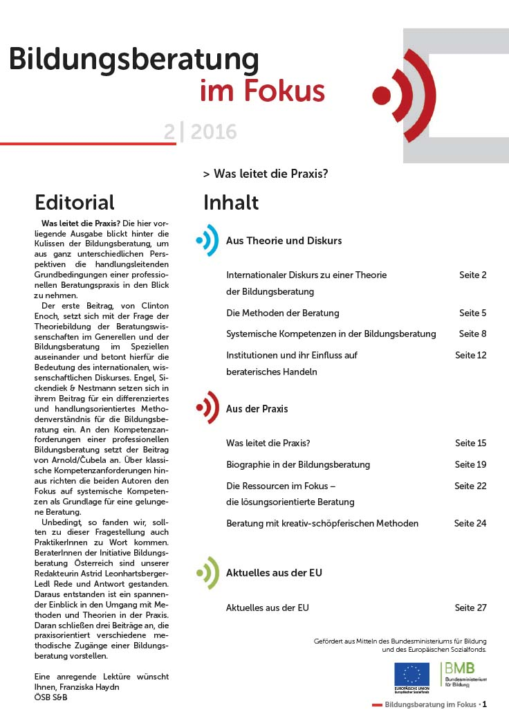 Cover Bildungsberatung im Fokus