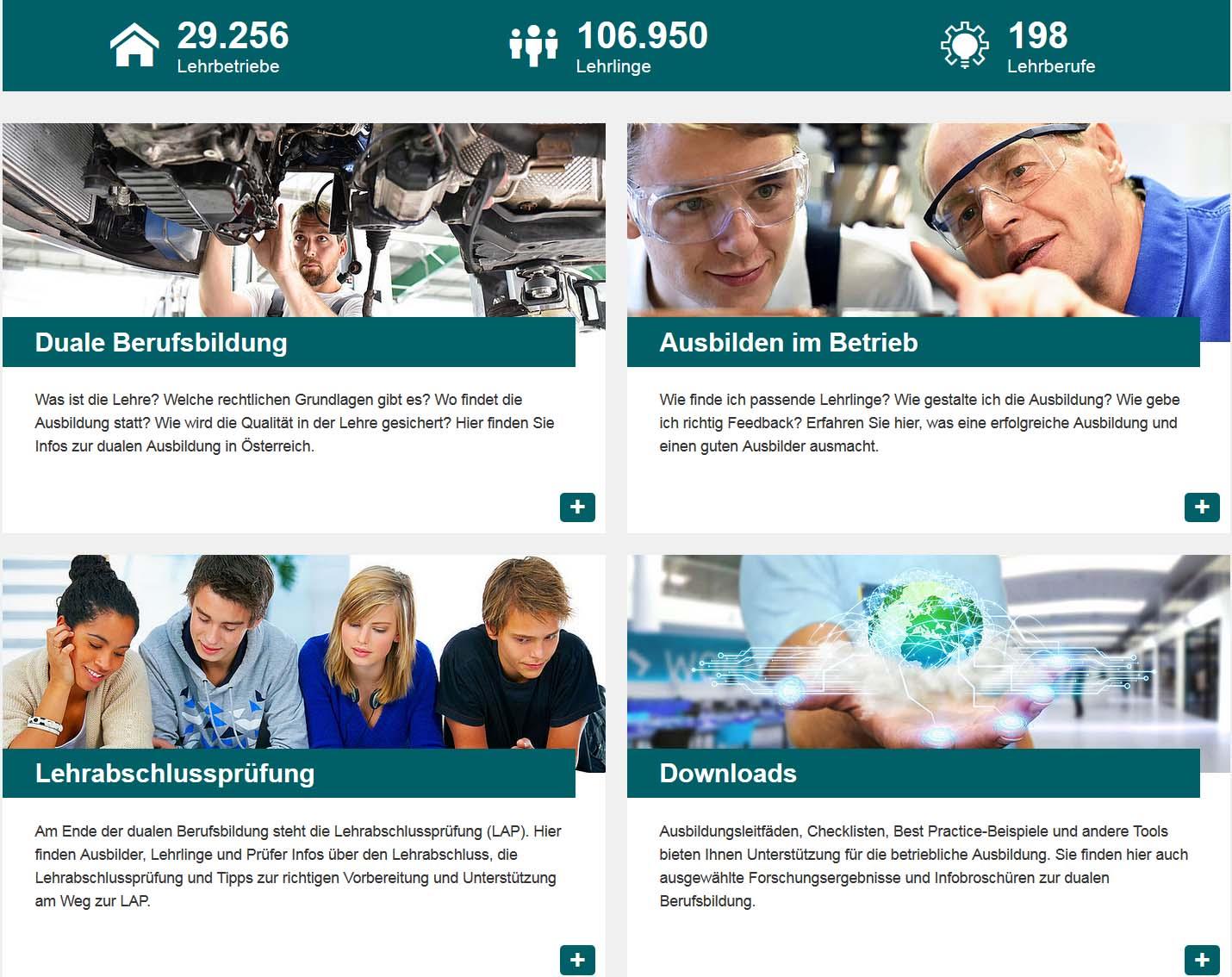 Screenshot Qualität Lehre