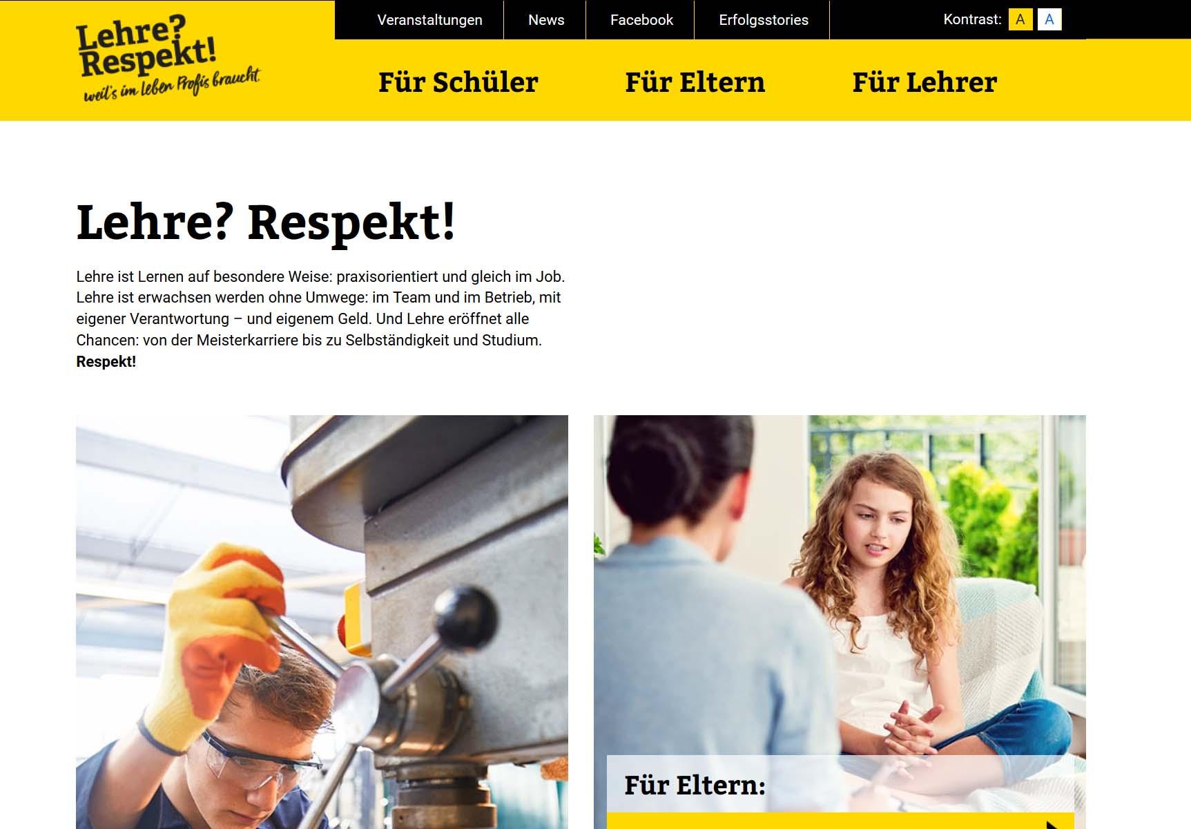 Screenshot Lehre Respekt