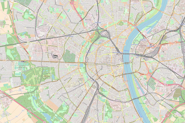 Karte von Köln