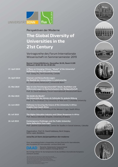 The Global Diversity of Universities of the 21st Century